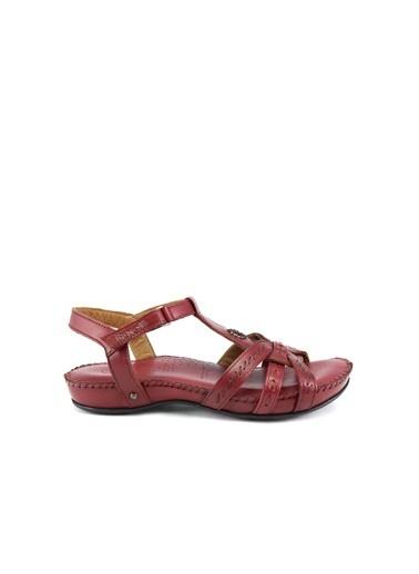 Forelli %100 Deri Sandalet Bordo